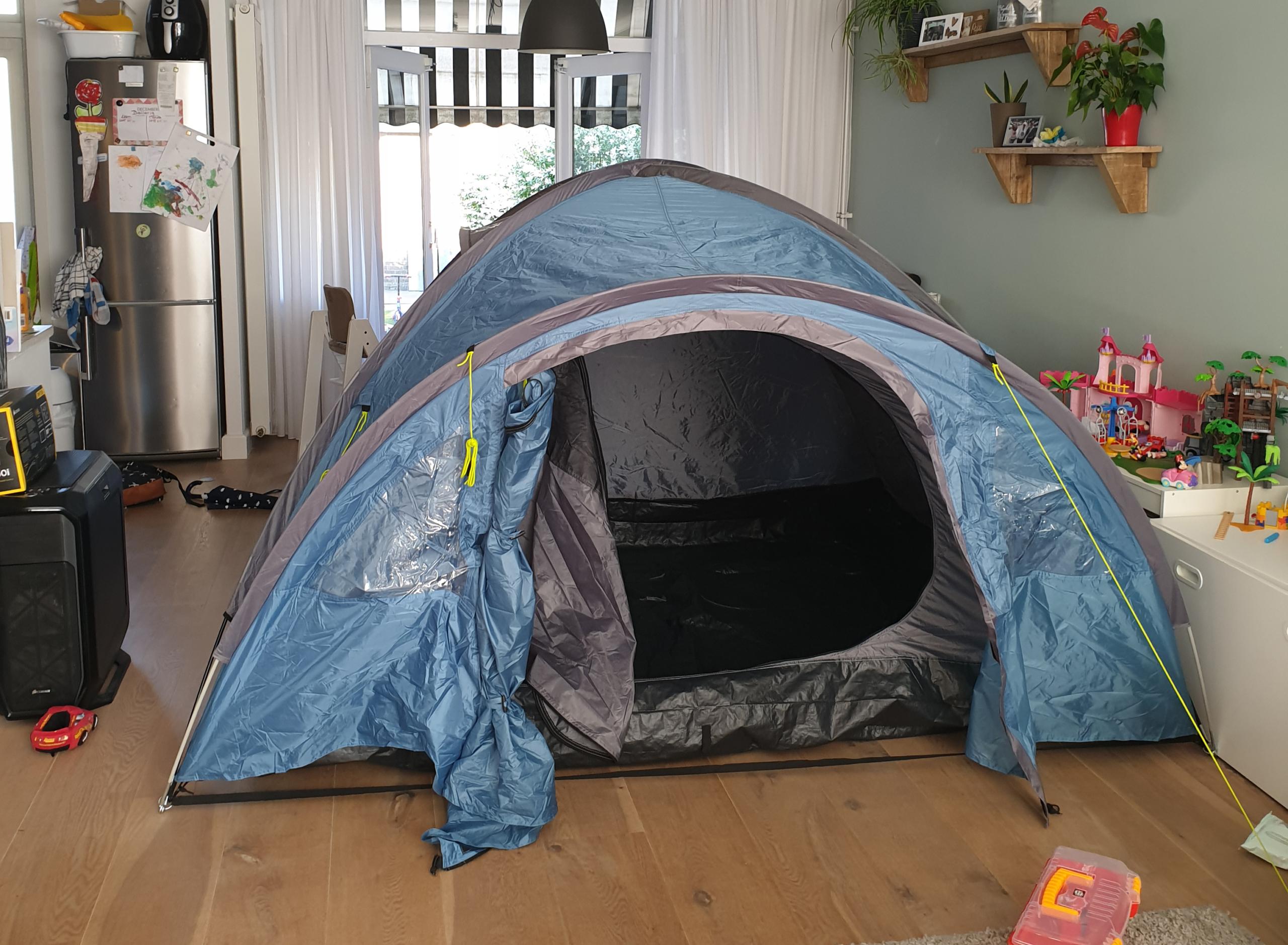 kamperen in huis